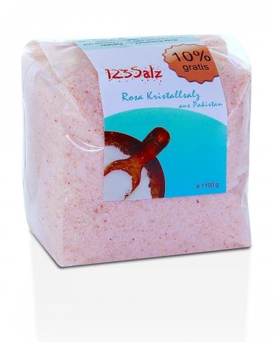 rosa Kristallsalz fein, 1100 gr