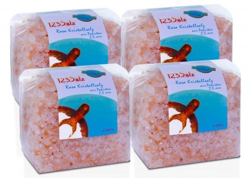 Sparpaket rosa Kristallsalz grob – 4 x 1000 g, geprüfte Qualität