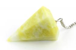 Edelstein Pendel Zitronen-Chrysopras