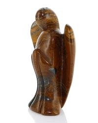 Edelsteinengel XL, Tigerauge , Statue, poliert