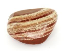 XL Trommelstein, Roter Jaspis, Streifenjaspis, poliert, ca. 497 g