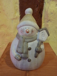 Schneemann mit Mütze 15 cm