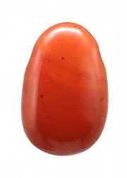 Jaspis rot, Lochstein Anhänger gebohrt, Tropfenform 30 x 22 x 10