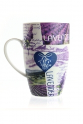 Porzellantasse Lavendel Variante Herz 2