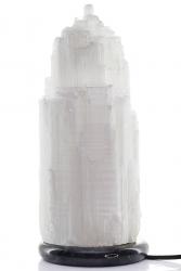 Selenit Lampe mit Marmorsockel ca. 33 cm hoch ca. 6,1 Kg