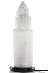 Selenit Lampe mit Marmorsockel ca. 37 cm hoch ca. 4,7 Kg