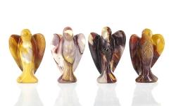 Edelsteinengel Mookait, 50 mm, poliert, tolle Farben, Handschmeichler