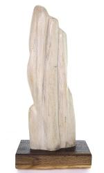Versteinertes Holz mit Holzsockel, ca. 41,5 cm, ca. 2,4 Kg