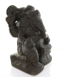 Ganesha Skulptur, Sandguss, ca. 30 cm, ca. 9 Kg, aus Indonesien
