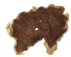 Wurzelschale aus Teakholz, in Handarbeit hergestellt in Indonesien, ca. 45 x 36 x 7 cm, ca. 3 Kg
