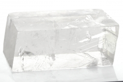 Doppelspat, Optischer Calcit, Natur roh, ca. 200 g, aus Brasilien