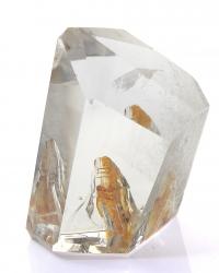 Bergkristall Freeform, polierter Anschliff mit Einschluß, glasklar, ca. 161 g