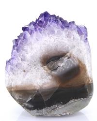 Amethyst Druse, Drusenstück, Uruguay Qualität, ca. 875 g, ca. 11,5 cm, polierter Rand