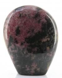 Rhodonit Freeform mit Standfläche Madagaskar, ca. 8 cm,ca. 383 g, Trommelstein