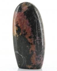 Rhodonit Freeform mit Standfläche Madagaskar, ca. 9 cm,ca. 259 g, Trommelstein