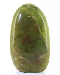 Grüner Opal Freeform mit Standfläche Madagaskar, ca. 8,5 cm,ca. 230 g, Trommelstein