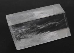 Doppelspat, Optischer Calcit, poliert, glasklar, ca. 170 - 190 g, aus Brasilien