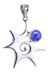925er Silber, Seestern mit Lapis Lazuli, Anhänger ca. 4 x 3 cm in Schmuckverpackung