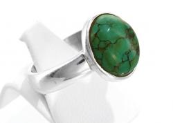 Türkis Ring 925er Silber, filigrane Handarbeit, Ringgröße 55, inkl. Schmuckverpackung