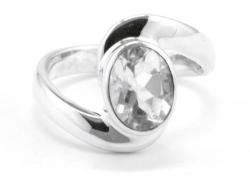 Bergkristall Ring facettiert, 925er Silber, Handarbeit, Ringgröße 55, inkl. Schmuckverpackung