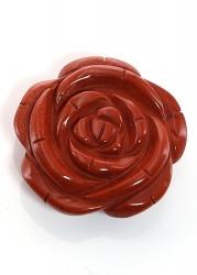 Jaspis rot Anhänger, Rose Gravur 35 mm x 12, 5 mm