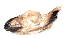 Fisch aus versteinertem Holz, polierte Oberfläche, ca. 37 cm lang, ca. 3,4 Kg
