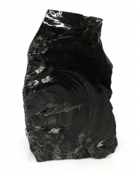 Obsidian Rohstein, ca. 40 x 23 x 14 cm groß, ca. 21,1 Kg schwer