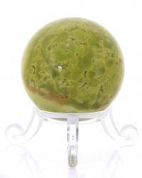Grüner Opal Edelsteinkugel ,A-Qualität aus Madagaskar, ca. Ø 40 mm, mit Kugelhalter