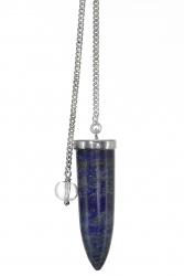 Edelsteinpendel Lapis Lazuli in 925er Silber