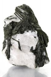 Schwarzer Turmalin Schörl in Quarz, ca. 1,1 Kg, ca. 13 cm
