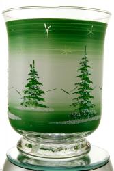 Glas-Windlicht, Handbemalt aus dem Erzgebirge