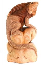 Leguan aus Suarholz, Handarbeit aus Bali, ca. 40 cm