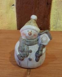 Schneemann mit Mütze 7 cm