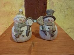 Schneemänner mit Mütze und Zylinder 7 cm