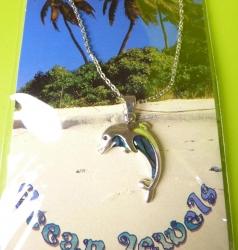Kette Delphin aus Paua Muschel