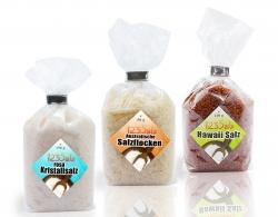 3 Kontinente Salz, Australische Salzflocken- Kristallsalz- Hawaii