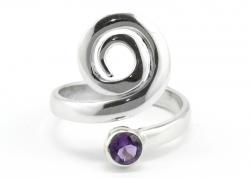 Amethyst Ring facettiert,Ringgröße 58