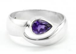 Amethyst Ring facettiert,Ringgröße 55