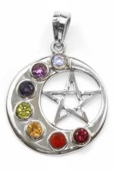 Chakra Mond und Pentagram Anhänger