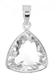 Bergkristallanhänger facettiert, gefasst in 925er Silber, inkl. Schmuckverpackung