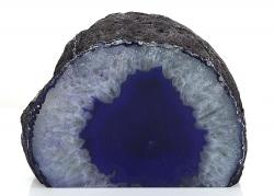 Achat mit Standfläche, gefärbt, A-Qualität, violett