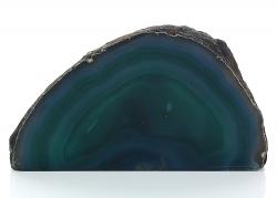 Achat mit Standfläche, gefärbt, A-Qualität, grün