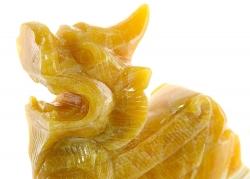 Orangencalcit Drache, ca. 2,5 Kg