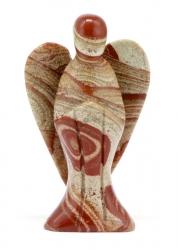 Edelsteinengel roter Jaspis, 7,5 cm